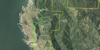 Aerial photo with GIS boundary files