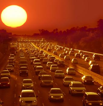 Traffic_jam_at_sunset